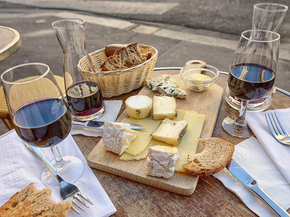Composition d'un plateau de fromage