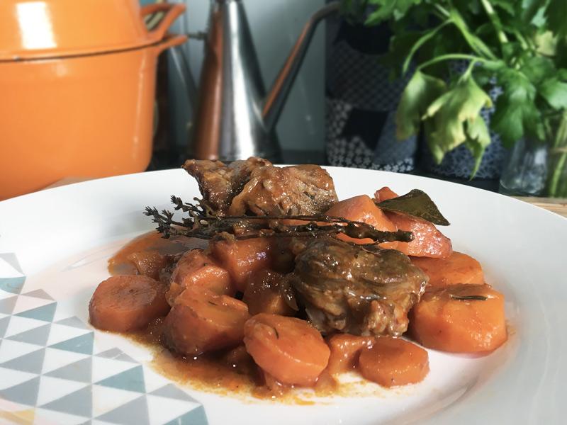 Mijoté de boeuf aux carottes
