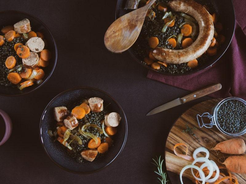 Recette des lentilles saucisse par Maison de l'Aveyron