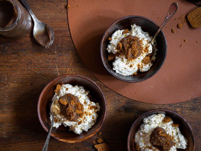 Fromage blanc à la crème de marrons et aux speculoos