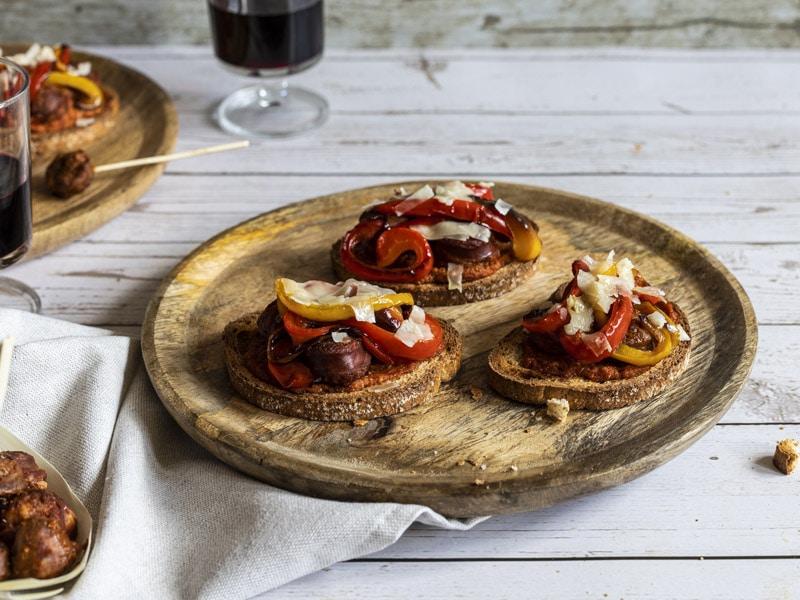Tartines au chorizo frais pour l'apéro
